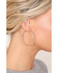 Showpo - Dont Know When 50mm Hoop Earrings In Silver - Lyst