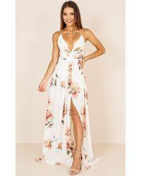 Showpo - Shine Through Maxi Dress In White Floral - Lyst