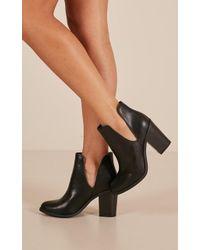 Showpo - Lipstik - Joanie Boots In Black - Lyst