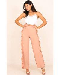 Showpo - More And More Pants In Mocha - Lyst