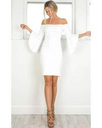 Showpo - Im Still Standing Dress In White - Lyst