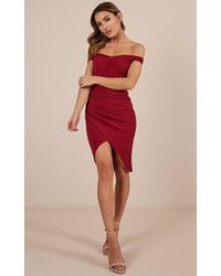 Showpo - Take A Picture Dress In Wine - Lyst