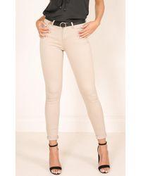 Showpo - At My Best Jeans In Beige - Lyst