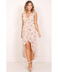 Showpo | Morning To Night Dress In Blush Floral | Lyst