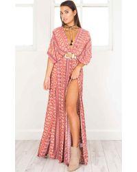 Showpo - Vacay Ready Maxi Dress In Pink Print - Lyst