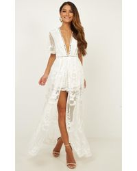 Showpo - Lets Get Loud Maxi Playsuit - Lyst