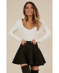Showpo - Real Deal Skirt In Black - Lyst