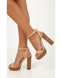 Showpo - Billini - Easton In Nude Nubuck - Lyst