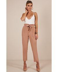 Showpo - Work Up Pants In Camel - Lyst
