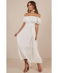 Showpo - Notre Dame Maxi Dress In White - Lyst