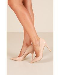 Showpo Verali - Harold In Nude Patent - Natural