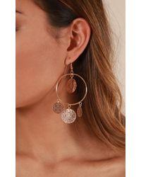 Showpo - Electric Feel Earrings In Gold - Lyst