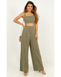 Showpo Shes Over It Two Piece Set - Green