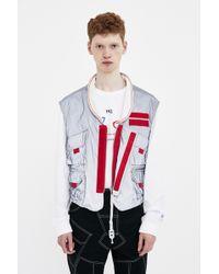 KANGHYUK - Grey Reversible Vest - Lyst