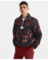 Xander Zhou - Red Black Zip Jacket - Lyst