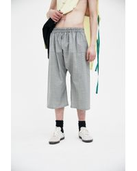 Raf Simons - Grey Short Trousers - Lyst