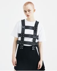 Noir Kei Ninomiya - Black Harness Vest - Lyst