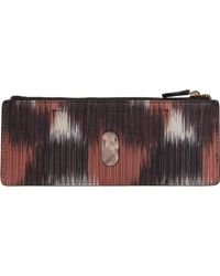 Lodis Boho Printed Credit Card Case - Orange