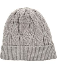 Chaos - Solid Fleece-lined Cable-knit Beanie (for Men) - Lyst