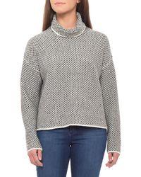Christian Siriano - Textured Stitch Turtleneck Sweater (for Women) - Lyst