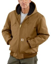Carhartt 103940 Quilted Flannel-lined Duck Active Jacket - Brown