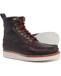 Clarks - Wallace Moc-toe Boots - Lyst