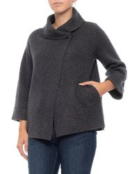 Adrienne Vittadini - Cashmere Double-knit One-button Swacket - Lyst