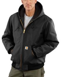 Carhartt Quilted Flannel-lined Duck Active Jacket - Black