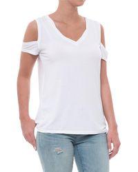 Sweet Romeo - Cold-shoulder Shirt - Lyst