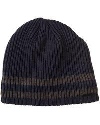 Lyst - Drake s Striped Mélange Virgin Wool Beanie in Blue for Men 81e504b4d2e5