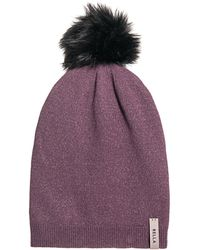 94647af09e3 Lyst - 1717 Olive Purl Knit Slouch Beanie - Mushroom in Gray