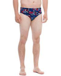 Speedo - Trippy Stripe Swim Brief (for Men) - Lyst