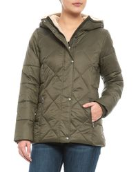 G.H.BASS - Midlength Diamond Quilted Puffer Jacket - Lyst