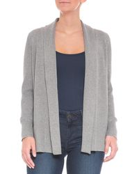Cable & Gauge - Directional Ribbed Cardigan Sweater - Lyst