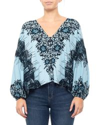 Free People - Blue Birds Of A Feather Floral Shirt - Lyst