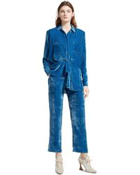 f9127e6f608 Lyst - 3.1 Phillip Lim Crop Shirt With Silk Covered Cord And ...