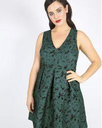 Simply Be - Lovedrobe Jacquard Prom Dress - Lyst