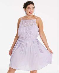 Simply Be - Lilac Tassel Skater Dress - Lyst