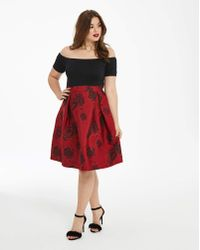 AX Paris - Curve Two In One Printed Dress - Lyst