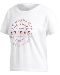 Simply Be - Adidas Emblem T-shirt - Lyst