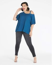 Simply Be - Dark Teal Off The Shoulder Blouse - Lyst