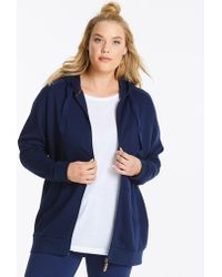 Simply Be - Slounge Zipper Through Hoodie - Lyst