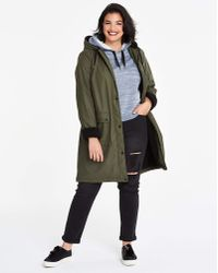 Simply Be - Rain Coat With Borg Faux Fur Lining - Lyst
