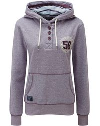 Tog 24 - Tog24 Orford Womens Button Neck Hoodie - Lyst