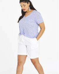 Simply Be - Linen Mix Shorts - Lyst