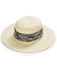 Simply Be - Scarf Tie Straw Hat - Lyst