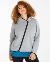 Simply Be - Asymmetric Zipper Hoodie - Lyst
