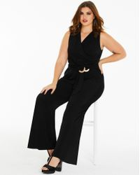 Simply Be - Joanna Hope Wrap Front Jumpsuit - Lyst