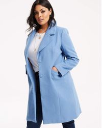 Simply Be - Single Breasted Smart Coat - Lyst