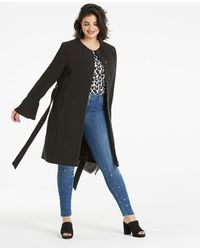 Simply Be - Flare Sleeve Coat - Lyst